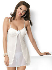 OBSESSIVE Bride Luxury Sheer Chemise and Matching Thong Set
