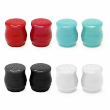 "Chantal 2"" Ceramic Salt & Pepper Shaker Set - Red, Aqua, Black or White"