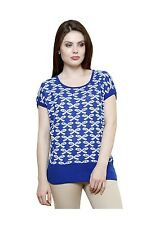 Renka Printed Poly Cotton Summer Tops For Women