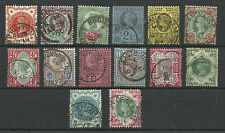 1887/00 Set of 14 Jubilee Issues, Good to Very fine used.