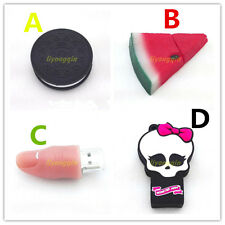8GB-64GB Biscuit watermelon finger Skull usb memory stick flash pen drives Cards