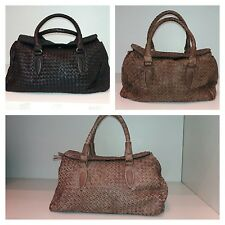 Borsa in VERA pelle Intrecciata/REAL Braided Leather Bag MADE IN ITALY