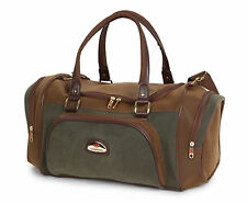 New Leather Look Duffle Bag Shoulder Holdall Travel Hand Luggage Weekend Strap