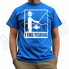 I Like Fishing Funny Comic Offensive Rude Mens T-Shirts Tank Top Vests S-XXL