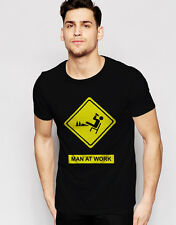 MAN AT WORK - T-shirt High Quality Premium Collection Printed Round Neck T-Shirt