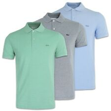 NEW LACOSTE POLO - LACOSTE PIQUE SLIM FIT POLO - PH6633 - MINT/NAVY/BLUE - BNWT