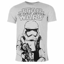 MENS STAR WARS THE FORCE AWAKENS EP 7 VII STORM TROOPER TEE SHIRT T-SHIRT TOP