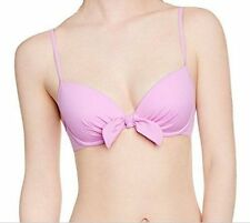 Lepel Bow Padded Push Up Bikini Top Lilac (Pink) New Sizes 32-38 A-DD