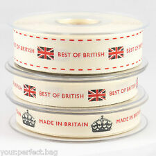 Berisfords 'BEST OF BRITISH' and 'MADE IN BRITAIN' ribbon var lengths