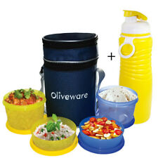 Oliveware LB36 4 Containers Lunch Box + Water Sipper combo offer