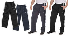 Mens Boys Matching Poly PE Sports Jogging Bottoms Joggers Gym Tracksuit Pants BN