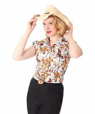 SugarShock Jula Rockabilly 50s Pin Up Style retro Cowgirl Western Binde Bluse