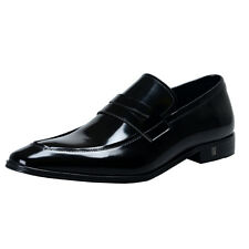 Versace Collection Men's Black  Leather Penny  Loafers Shoes Sz 6 7 8 9 10 11 12