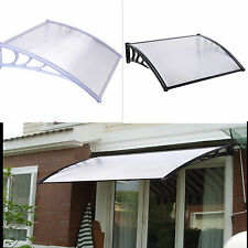 New Door Canopy Awning Front Back Porch Outdoor Shade Patio Cover Black or White