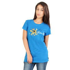 15% Off on Red Rose Cotton Short Sleeves Royal Blue with Front Printed T-Shirt