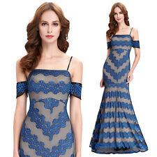 Alluring Women's lace spaghetti Straps Dress ball gowns elegant Party PROM dress