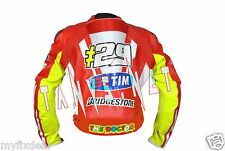Andrea Iannone Ducati Motorbike riding Motorcycle Racing Moto Gp Leather Jacket