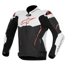 10% OFF Alpinestars ATEM Black-White-Red Motorbike Leather CE Sport Jacket