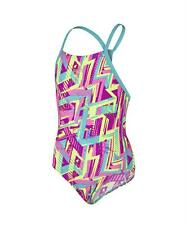 Speedo Girls Carnival Camo Allover Rippleback Swimsuit