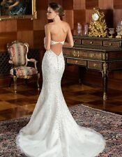 Bling Strapless  Formal Mermaid Lace Wedding Dress Delivery In About 28 Days