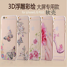LUXURY LOOK Bling Diamond Transparent soft tpu Back cover case for iPhone 5, 5S