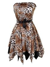 New women Leopard print Evening Ball Gown Party Prom Bridesmaid Dress
