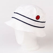 Ellesse 80's Casuals Mens Designer Vito Festival Bucket Hat in White One Size