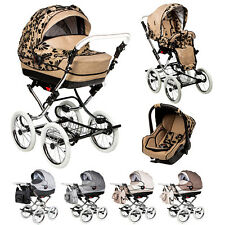 Pram Stroller buggy Pushchair Tramonto  Classic car seat  retro wheels