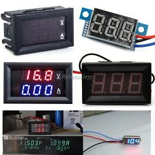 Doppio Display LED DC 0-100V 10A Voltmetro Digitale Ammeter Pannello Ampere Volt
