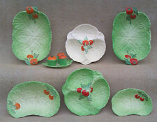 BESWICK - SELECTION OF LETTUCE LEAF SERVING DISHES & CRUET SET
