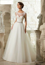 2016 New White/ivory Wedding Dress Lace Evening Dress Size 6-8-10-12-14-16
