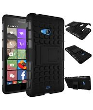 Kick Stand Hard Rugged Armor Hybrid Back Case Cover  For  MICROSOFT LUMIA 540