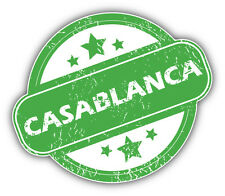 Casablanca Grunge Rubber Travel Stamp Car Bumper Sticker Decal 5'' x 4''