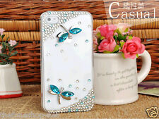LUXURY Butter fly Bling diamond hard back cover case for iPhone 5, 6, 6 Plus