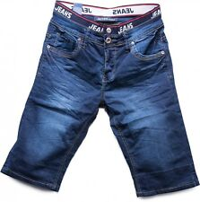 Herren Denim Shorts Jeans Bermudas kurze Hose stretch stone washed Comfort blau