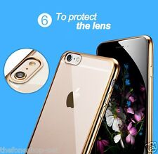 Luxury Look Transparent Soft TPU Electroplated Back Cover Case For iPhone 5, 5S