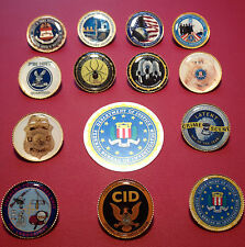 FEDERAL BUREAU OF INVESTIGATION `F.B.I. `SPECIAL UNITS` GOLD PLATED BADGES