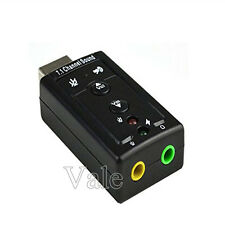 1/2x Lot USB 2.0 Virtual 7.1 Channel Audio Sound Card Adapter 3D For PC Desktop