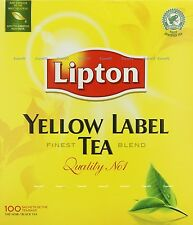 Lipton Yellow Label Tea 100 Tea bags Supplied **Tracked Delivery ** UK Seller**