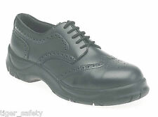 Himalayan 410 S1P SRC Black Brogue Wide Fit High Grip Steel Toe Cap Safety Shoes