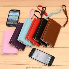 PU Leather Protective Wallet Case Clutch Cover for Smart-Phones ESMXWL-24
