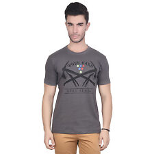 Chevy Men's Grey Round Neck T-Shirt