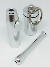SNUFF BULLET METAL with SNUFF SNORTER TUBE and PILL BOX CONTAINER Snuff KIT
