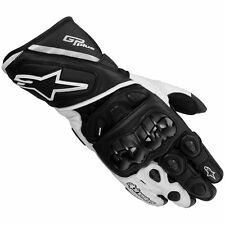 ALPINESTARS GP PLUS black/white Motorbike Leather Racing Gloves S M L XL 2XL