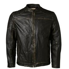 6903 Selected Homme Giacca In Pelle Uomo Motociclista Giacca