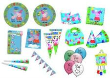 PEPPA PIG Blue Party & Tableware Items, Plates, Cups, Napkins, Balloons