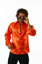 Porno Shirt orange Chequer Pimp Macho Prolet Costume Shirt Theme party 70s new