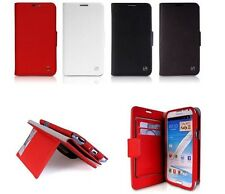 Luxury Deluxe Flip GENUINE Leather Case Cover for Samsung Galaxy Note 2 N7100