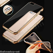 Luxury Ultra Thin Gold Plated Transparent Tpu Soft Back Cover For iPhone 5, 5S