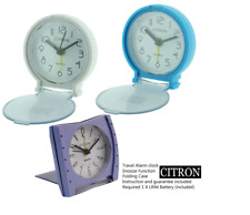 Travel Alarm Clock With  Folding Case White/ Blue/ Purple